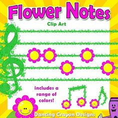 f79581bf0ce7 Make your own spring-themed music charts with this gorgeous music notation clip  art set