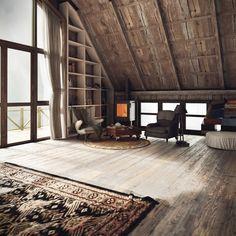 grandes puertas suelo madera canchero decoracion rustica altillo ventanales estilo rstico cuartos terrazas