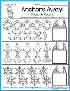 Kindergarten counting worksheets made specifically for July (including the 4th of July!) and the summer months. Counting Worksheets For Kindergarten, Summer Worksheets, Graphing Worksheets, Alphabet Tracing Worksheets, Writing Lines, Upper And Lowercase Letters, Learn To Count, Summer Months, Business For Kids