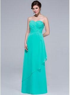 Bridesmaid Dresses - $114.99 - Sheath Sweetheart Floor-Length Chiffon Bridesmaid Dress With Ruffle  http://www.dressfirst.com/Sheath-Sweetheart-Floor-Length-Chiffon-Bridesmaid-Dress-With-Ruffle-007037208-g37208