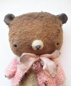 Mother/'s day gift Little white teddy bear OOAK handmade teddy art toy artist teddy bear toy stuffed animal collectible teddy bear