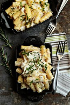 Mac and Cheese with Roasted Chicken, Goat Cheese, and Rosemary.