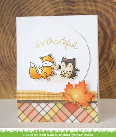 the Lawn Fawn blog: Lawn Fawn Intro: Perfectly Plaid Fall, New Cardstock and Ink