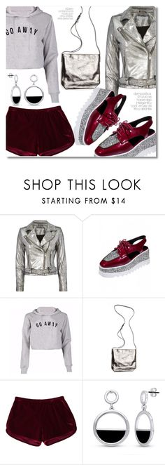 """""""20 Metallic and red"""" by laurafox27 ❤ liked on Polyvore featuring Alexander Wang, Ann Demeulemeester and BERRICLE"""
