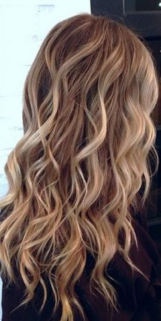 Curly blonde highlights