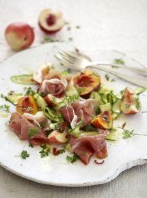 Prosciutto, Nectarine & Zucchini Salad