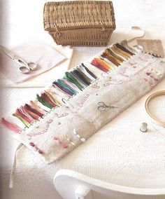 Roxy Creations: French books ~ Wow, this is lovely! Embroidery Thread, Cross Stitch Embroidery, Embroidery Patterns, Tatting Patterns, Needle Book, Needle Case, Sewing Case, Cross Stitch Books, Creation Couture