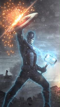 Animated Video GIF(DOWNLOAD) Phone Wallpaper Captain America