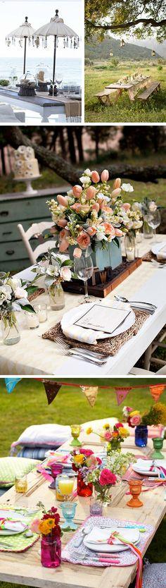 Mesa posta ao ar livre | Inspirações do Blog Lolahome - Festa - Adorei !!!!!!!!!