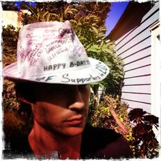 Ian with his ISF hat