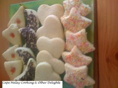 Biscuits – Cape Malay Cooking & Other Delights – Salwaa Smith South African Dishes, South African Recipes, Butter Biscuits Recipe, Biscuit Recipe, Malay Food, Sifted Flour, Biscuit Cookies, Vanilla Essence, Different Shapes