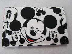 Mickey Mouse Faces Wallet Disney Pass Holder by KathieSewHappy