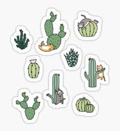 Pegatina Gatos de cactus
