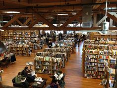 John S King Books in Detroit, MI • An old factory repurposed as a multi-level bookstore that could take the avid reader days to navigate. #books #bookstores #bookshops #thenavigatrix