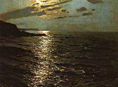 Anochecer - Enrique Martinez Cubells (1874-1947)