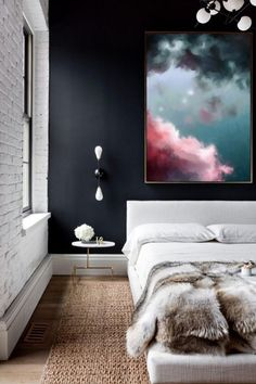 Cloud Painting, Abstract Art Print, Abstract Giclee, Green + Pink, Modern Art Abstract Painting by Corinne Melanie Art