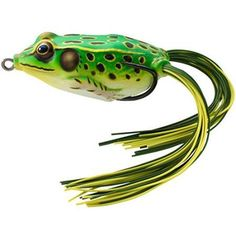 Koppers LiveTarget Hollow-Body Frog, 5/8 oz, Fluorescent Green/Yellow, Multicolor