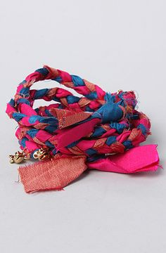 The Disney Couture Jewelry X Dr. Romanelli  Repurposed Woven Silk Braid Wrap Bracelet by Disney Couture Jewelry