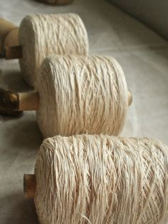 antique flax linen thread