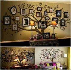 Photo tree wall arrangement.