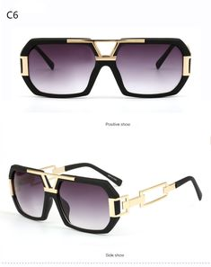 855c6a7e78 Michelle Flat Top Men Glasses Frame Brand Designer Square Metal Gold Sunglasses  For Men Optical Mirror