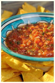 salsa...just need to find gluten free chips