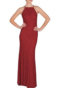 9bdef30a693 MUSHARE Women s Lace Sexy Open Shoulder Elegant Wedding Bridesmaid Maxi  Long Dress Ball Dresses