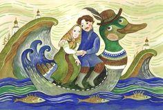 Сообщество иллюстраторов / Иллюстрации / Герасимова Дарья / По вечерней реке