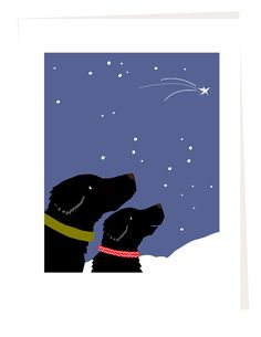 Christmas Cards Black Labs with Shooting Star Greeting Card Set My sweet dogs, printed in rich color by me then trimmed and mounted to folded card stock finished size 5 x 7 inches 4 cards to the set blank inside, with envelopes Cheers ! and thank you dale Black Tees, Big Dogs, I Love Dogs, Watercolor Christmas Cards, Purebred Dogs, Grey Hound Dog, Best Dog Breeds, Labrador Retriever Dog, Black Labrador