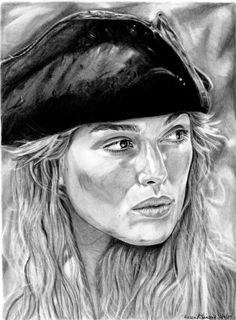 Elizabeth Swann 2 by khinson on DeviantArt Girl Drawing Images, Swan Drawing, Pirate Pictures, Drawing Sketches, Drawings, Sketching, Elizabeth Swann, Pirate Queen, Coloring Book Art