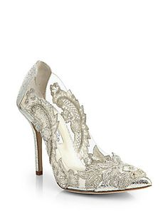 Oscar de la Renta Alyssa Beaded-Applique. OMFG these are beautiful! and extremely expensive! haha