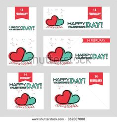 Valentine Day Banner, Greeting Card, Poster - stock vector