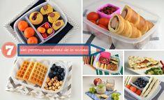 7 Idei pentru pachetelul de la scoala - Ice Cube Trays, Waffles, Breakfast, Recipes, School Lunches, Breakfast Cafe, Rezepte, Waffle, Recipe