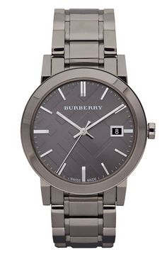 Burberry Large Check Stamped Bracelet Watch available at #Nordstrom $650.00