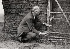 Dr. H.H. Bennett inspecting grasshopper invasion. 1937. UHPC, University Archive, Archives and Special Collections, CSU, Fort Collins, CO