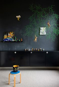 black in a child room