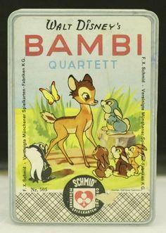 "Quartett: F.X SCHMID ¨Bambi Quartett"" Nr.505 / Walt Disney in Wetzikon ZH von…"