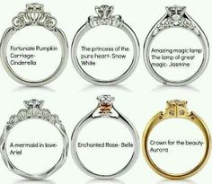 Disney princess inspired rings!