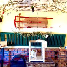 Gorgeous, Large, Antique Shutters...they look great on a long wall...$38.00 and $28.00. (80x17 & 55x16) Sold by Salvage Flair inside www.JustInTimeConsignments.com.