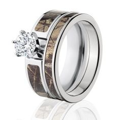RealTree AP Camo Bridal Set, Womens Camouflage Wedding Rings
