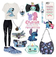 """Lilo and Stitch"" by punk101love ❤ liked on Polyvore featuring Disney and Casetify"