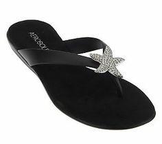 ef3fb06f964 Aerosoles Beach Chlub Embellished Thong Sandals Style Star