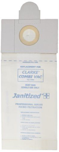 Janitized JAN NFP1 2 10 Paper Premium Replacement Commercial Vacuum Bag For