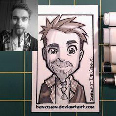 Os divertidos retratos ilustrados de Robert DeJesus - Mais do que somente uma habilidade, desenhar é um verdadeiro dom. E é isso o que faz muito bem o ilustradorRobert DeJesus.  Partindo de fotos no...