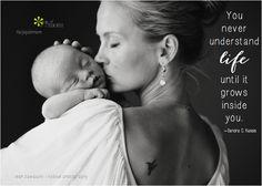 You never understand life until it grows inside you  ~Sandra C. Kassis <3 More gorgeous motherhood quotes on Joy of Mom. <3 https://www.facebook.com/joyofmom <3 Image cortesy of  leah zawadzki | lilyblue photography   #motherhoodquotes #givinglife #family #joyofmom