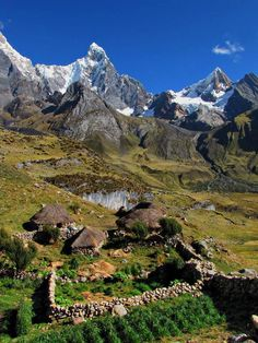 Andean Farm in Cordillera Huayhuash, Peru.  Photo: Michael Mellinger