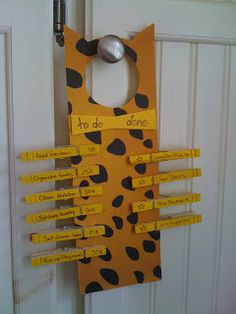 cat inspired chore chart - maybe could be used in classroom too?
