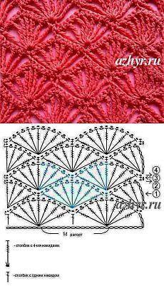 Openwork pattern crochet №17 | Openwork