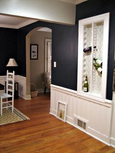Built In Wine Rack Design, Pictures, Remodel, Decor and Ideas - page 13 Blue Da Ba Dee, Built In Wine Rack, Traditional Dining Rooms, Wine Rack Wall, Wine Racks, House Trim, Wine Storage, Built Ins, The Help