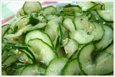 Savoury Dishes, Pickles, Cucumber, Zucchini, Salads, Food And Drink, Low Carb, Gluten, Healthy Recipes